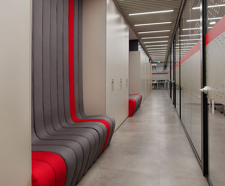 """stylised seating Recordati office Boytorun architects indiaartndesign"""