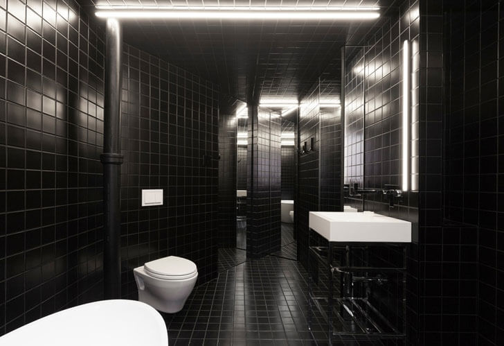 """monochrome bathroom jean verville IN2 indiaartndesign"""