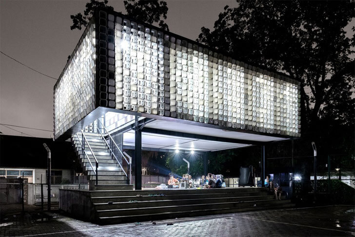"""micro library by night SHAU indiaartndesign"""