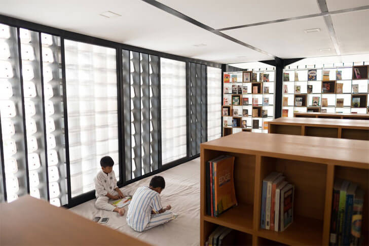 """micro library inculcating reading SHAU indiaartndesign"""
