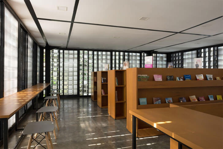 """micro library interiors SHAU indiaartndesign"""