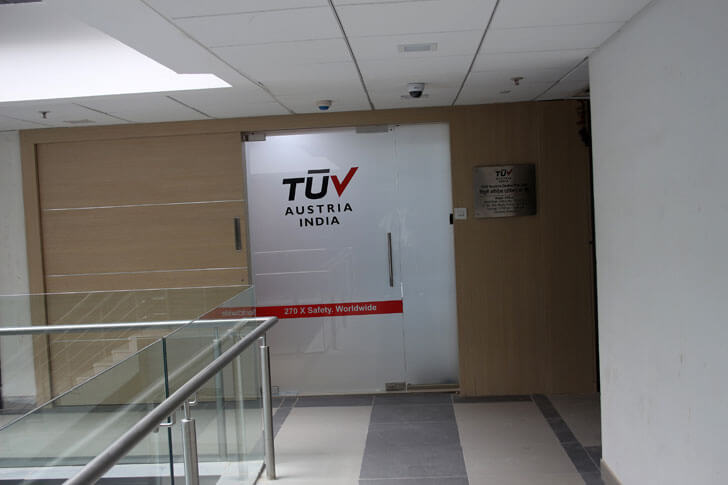 """door to office TUV India Spacetech Designs Indiaartndesign"""