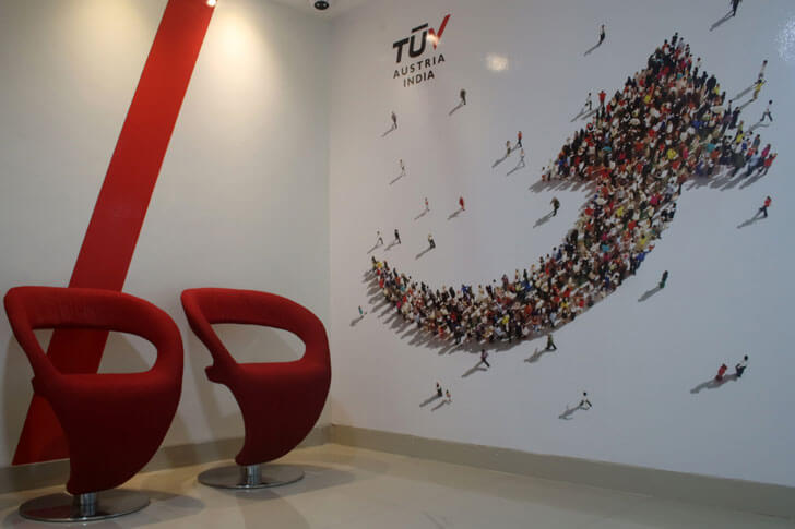 """entrance lobby TUV India Spacetech Designs Indiaartndesign"""