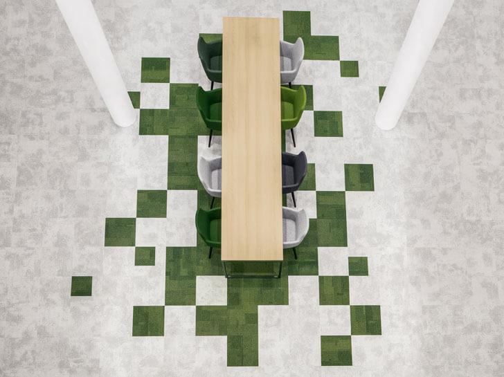 """""""green tiles flooring overhead view Schouw Informatisering i29 architecture indiaartndesign"""""""