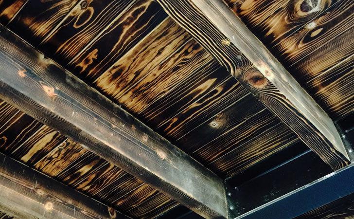 """rustic ceiling carboncabron cadena architects indiaartndesign"""