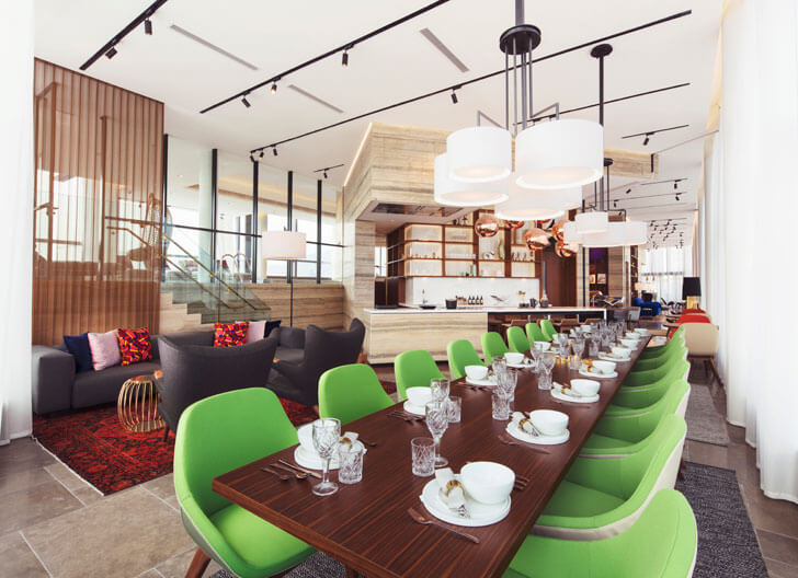 """restaurant skypark clubhouse concrete indiaartndesign"""
