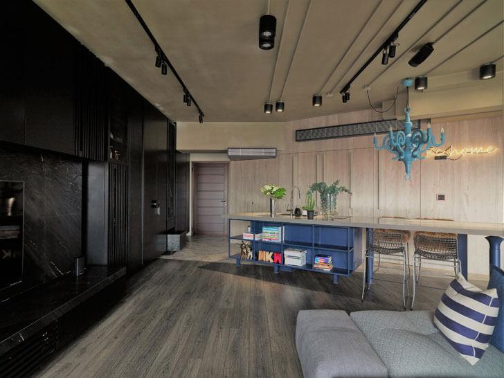 """ganna design residence black wooden panelling indiaartndesign"""