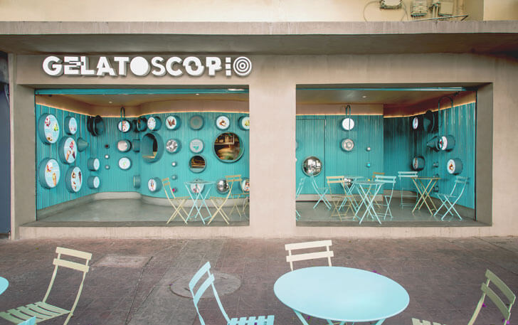 """facade gelatoscopio cadena architects indiaartndesign"""