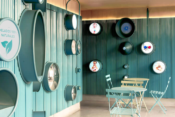 """interiors gelatoscopio cadena architects indiaartndesign"""