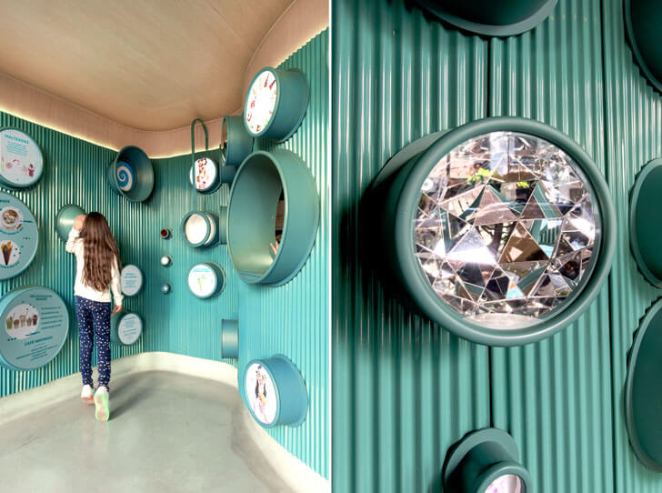 """mirrored scoops gelatoscopio cadena architects indiaartndesign"""