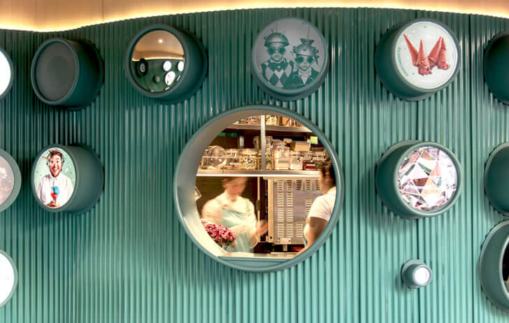 """service counters gelatoscopio cadena architects indiaartndesign"""