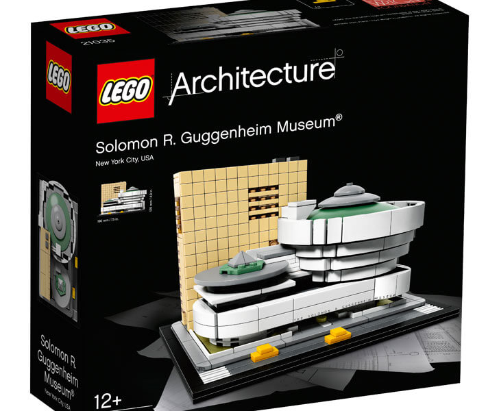"""LEGO Architecture series Guggenheim box front indiaartndesign"""