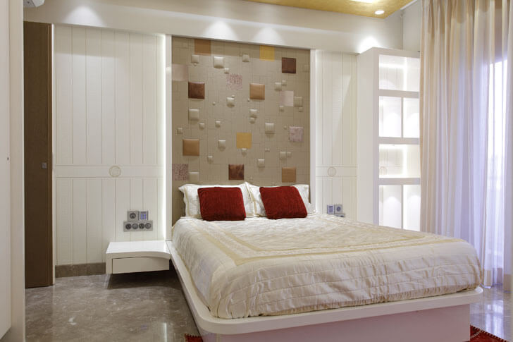 """Mahesh Punjabi Associates penthouse bedroom in white indiaartndesign"""