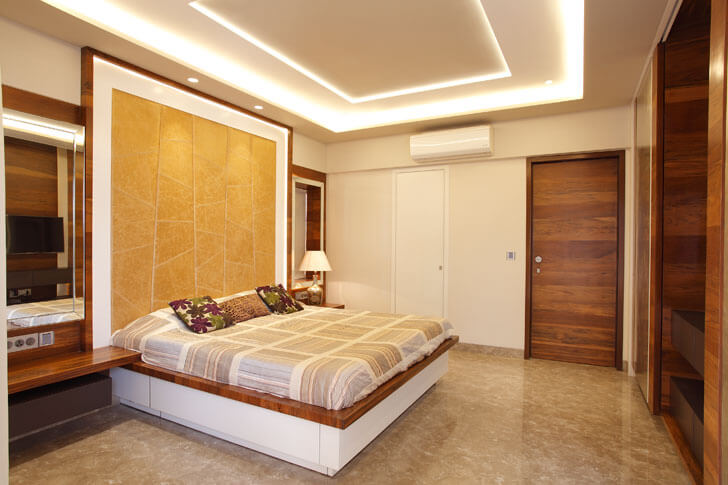 """Mahesh Punjabi Associates penthouse bedroom indiaartndesign"""