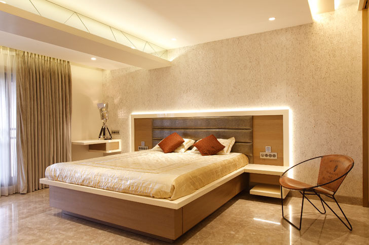 """Mahesh Punjabi Associates penthouse cove lighting bedroom indiaartndesign"""