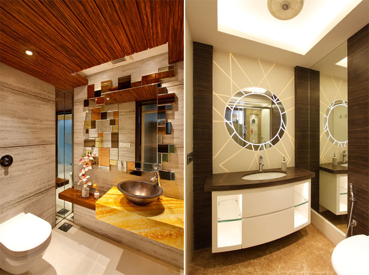 """Mahesh Punjabi Associates penthouse washrooms indiaartndesign"""