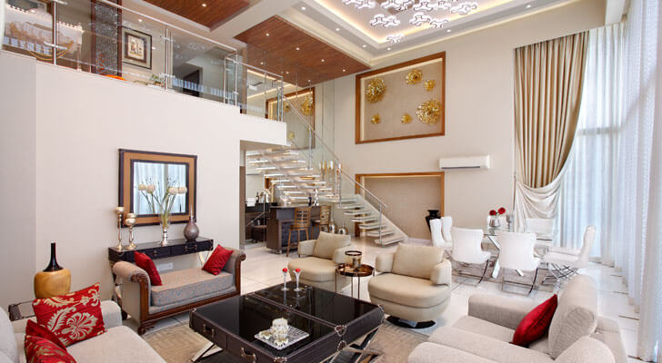 """Mahesh Punjabi Associates plush penthouse interiors indiaartndesign"""