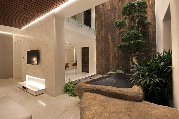 """indoor landscaping ar niroop reddy courtyard house indiaartndesign"""