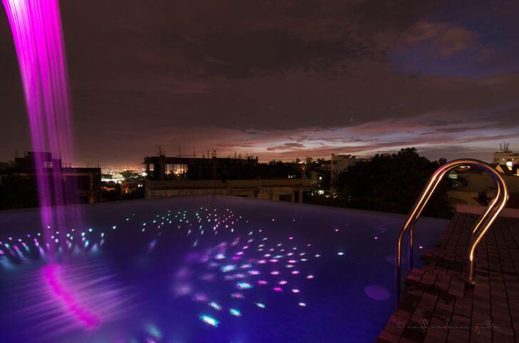 """""""play of light pool ar niroop reddy courtyard house indiaartndesign"""""""