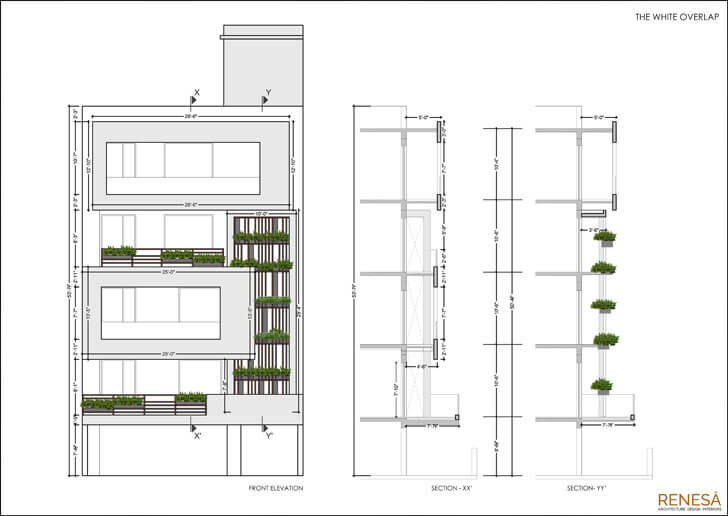 """elevation detail renesa architects indiaartndesign"""