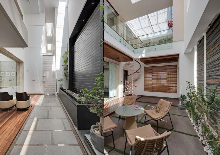 """courtyards cubism architects indiaartndesign"""