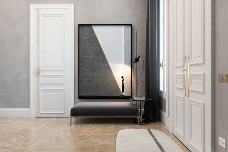 """exquisite flat paris apt diff studio indiaartndesign"""