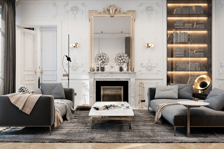 """living room paris apt diff studio indiaartndesign"""