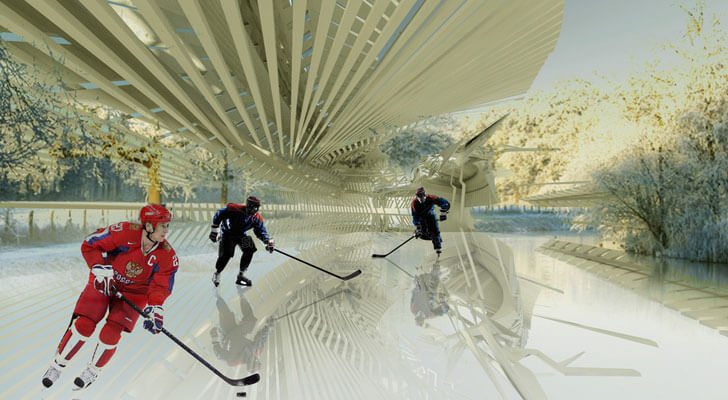 """ice hockey rink margot krasojevic indiaartndesign"""
