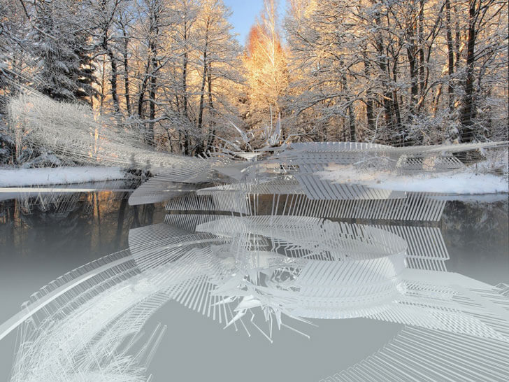"""reflection ice skating rink margot krasojevic indiaartndesign"""
