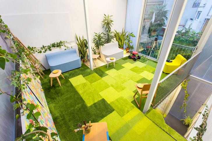"""green carpet poly house ERA Architects indiaartndesign"""