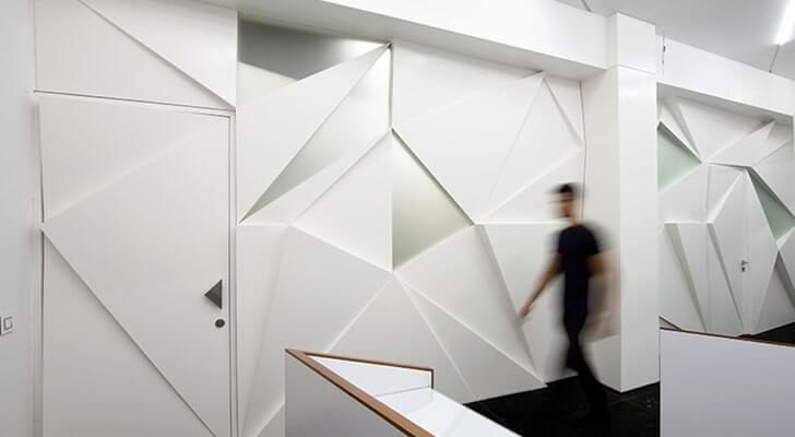 """tessallated wall SML Architects indiaartndesign"""