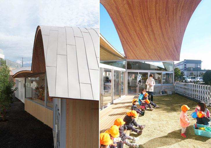 """fluid roof Toranoko nursery Takashige Yamashita indiaartndesign"""
