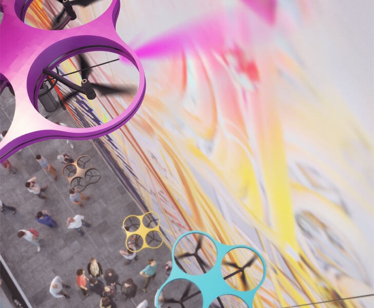 """paint by drone carlo ratti associati indiaartndesign"""