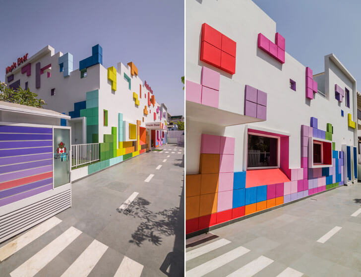 """colourful facade renesa maple bear indiaartndesign"""
