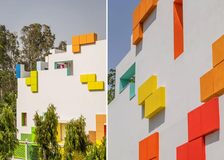 """tetris facade renesa maple bear indiaartndesign"""