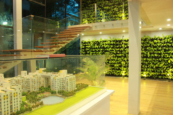 """vertical garden habitat pavillion square indiaartndesign"""
