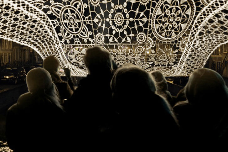 """visitors experience lace jin choi thomas shine indiaartndesign"""