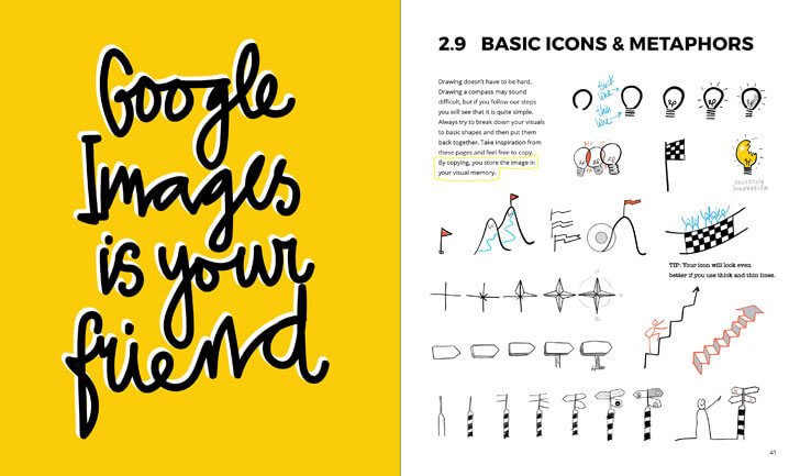 """basic icons and metaphors visual thinking willemien brand bis publishers indiaartndesign"""