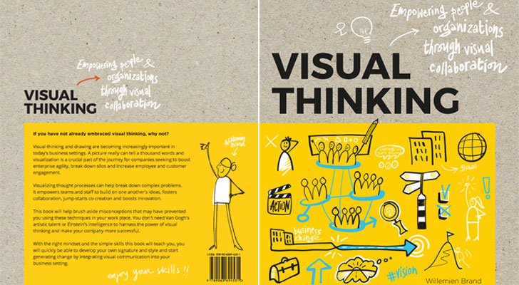 """book cover visual thinking willemien brand bis publishers indiaartndesign"""