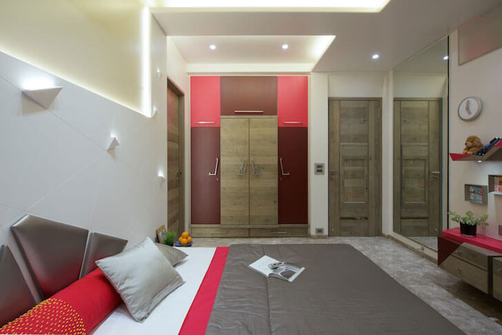 """bedroom in grey amit shastri architects indiaartndesign"""