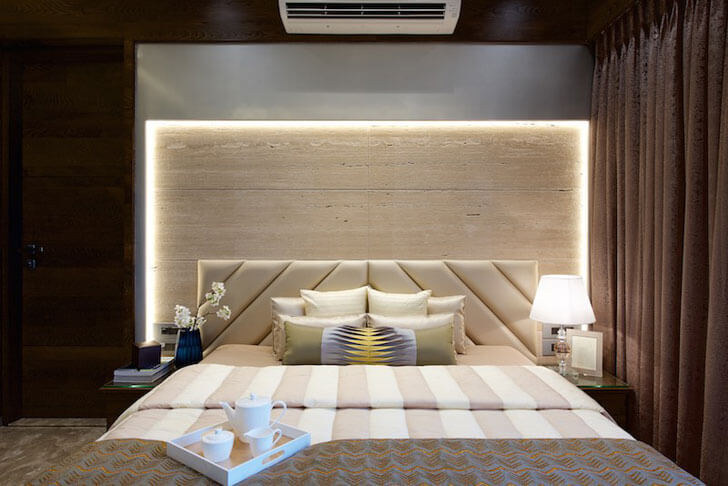 """luxurious bedroom amit shastri architects indiaartndesign"""
