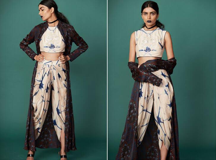 """short blouse bandhini anoli shah indiaartndesign"""