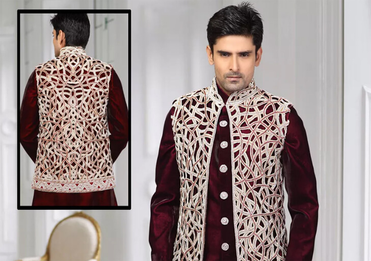 """menswear embroidered jacket utsav fashion indiaartndesign"""