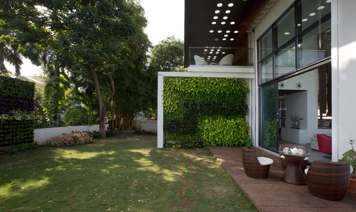 """garden view long house sunil patil architects indiaartndesign"""