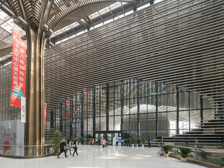 """entrance lobby tianjin binhai library MVRDV indiaartndesign"""