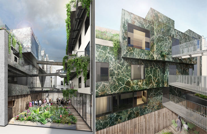 """Hotel Parister courtyard extension Beckmann n thepe indiaartndesign"""