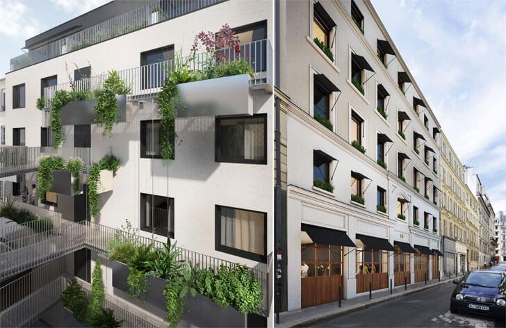 """Hotel Parister facade Beckmann n thepe indiaartndesign"""