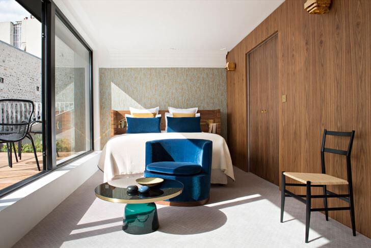 """Hotel Parister guest room 2 Beckmann n thepe indiaartndesign"""
