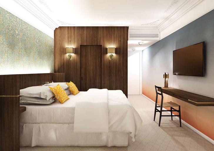"""Hotel Parister guest room 3 Beckmann n thepe indiaartndesign"""