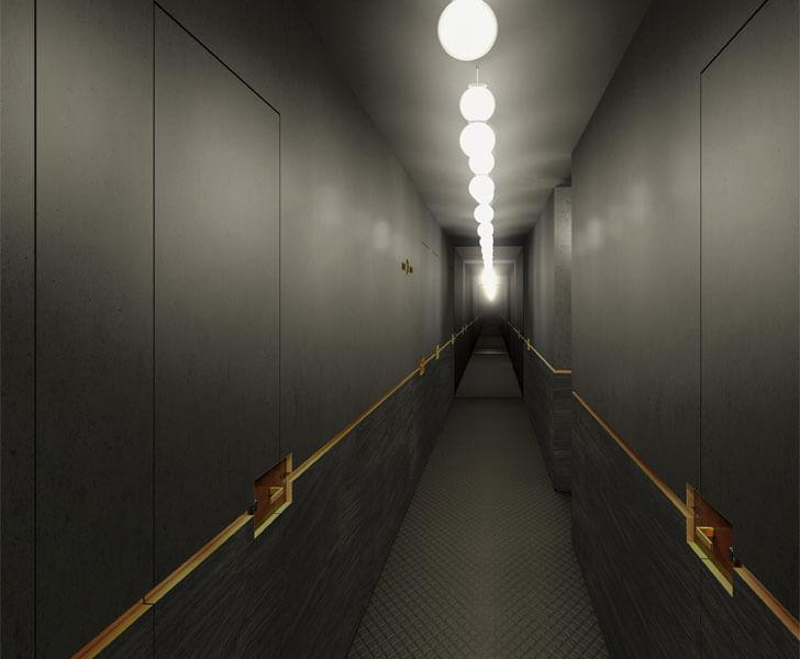 """Hotel Parister interior corridor Beckmann n thepe indiaartndesign"""